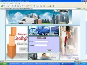 Admin login Courier management System