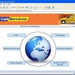 Cab Service Management admin page