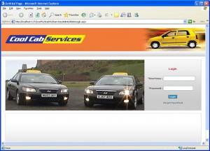 Cab Service Management home page