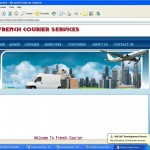 Courier management System home page
