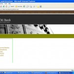 E-Banking home page