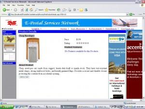 E-Post Office purchase menu