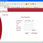 Electronic Bidding management System product registration