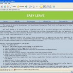 Leave Management System home page