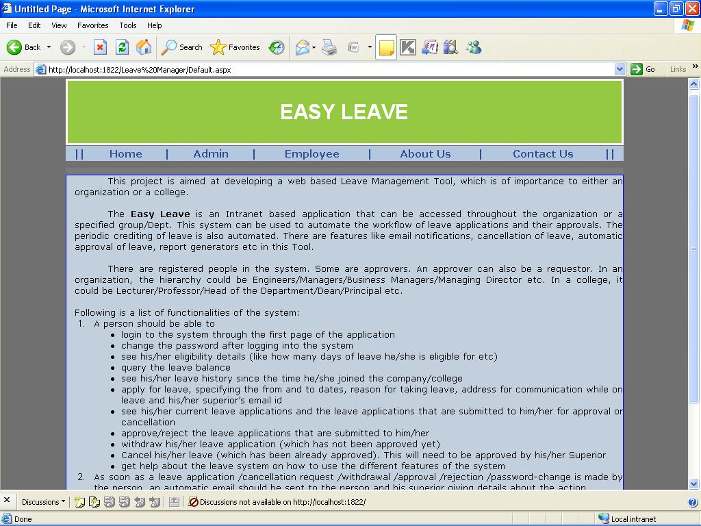 Leave Management System mini project - ProjectsGeek