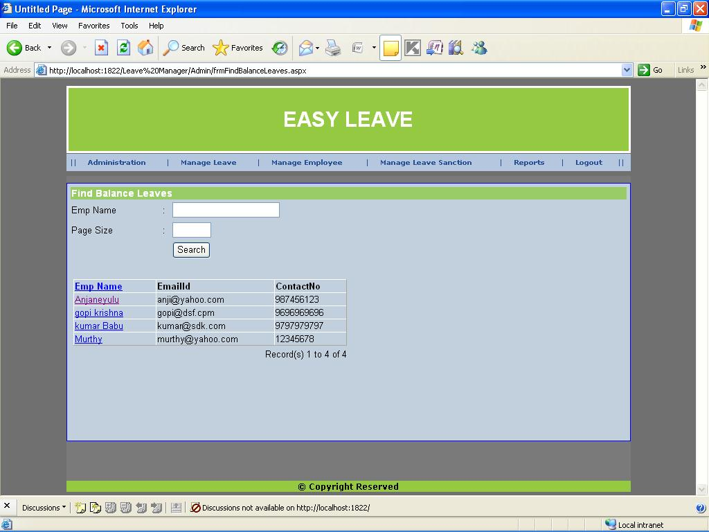 Leave Management System Mini Project Projectsgeek