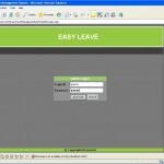 Leave Management System login page