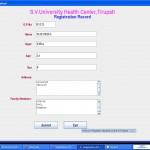 Hospital management System registration record
