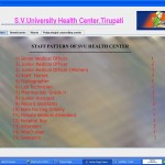 Hospital management System staff page