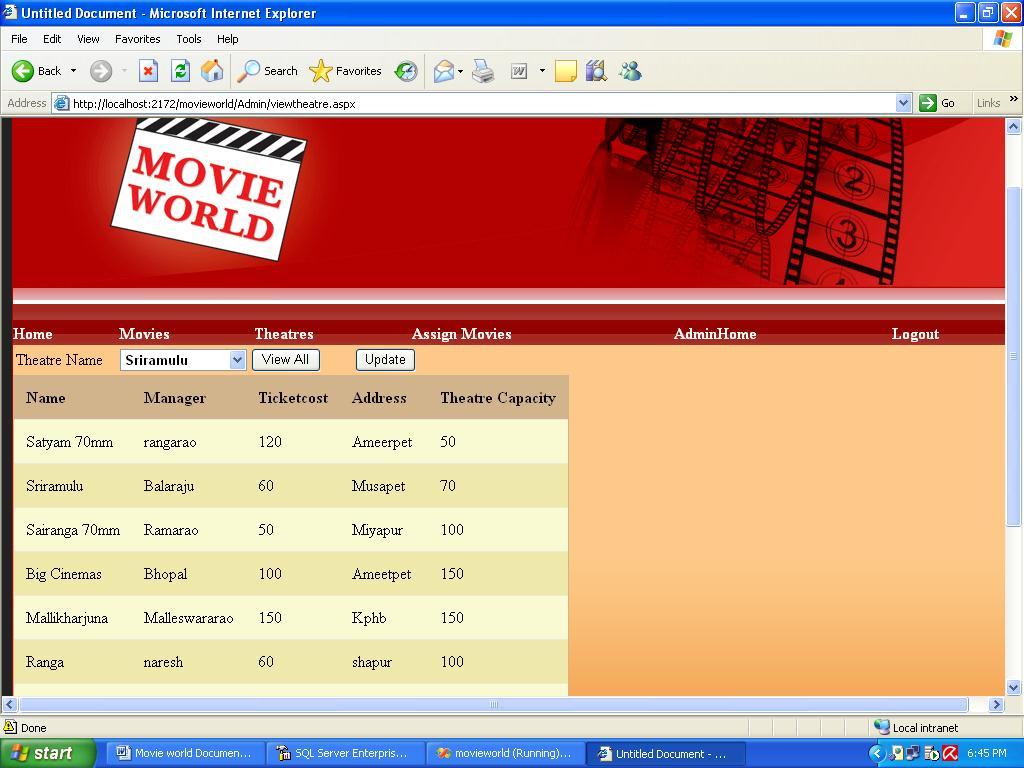 cinema ticket booking system