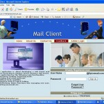 Web based Mail Service Client Homepage
