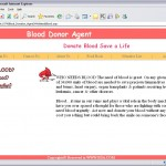 Online Blood Donation management System home page