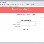 Online Blood Donation management System new country