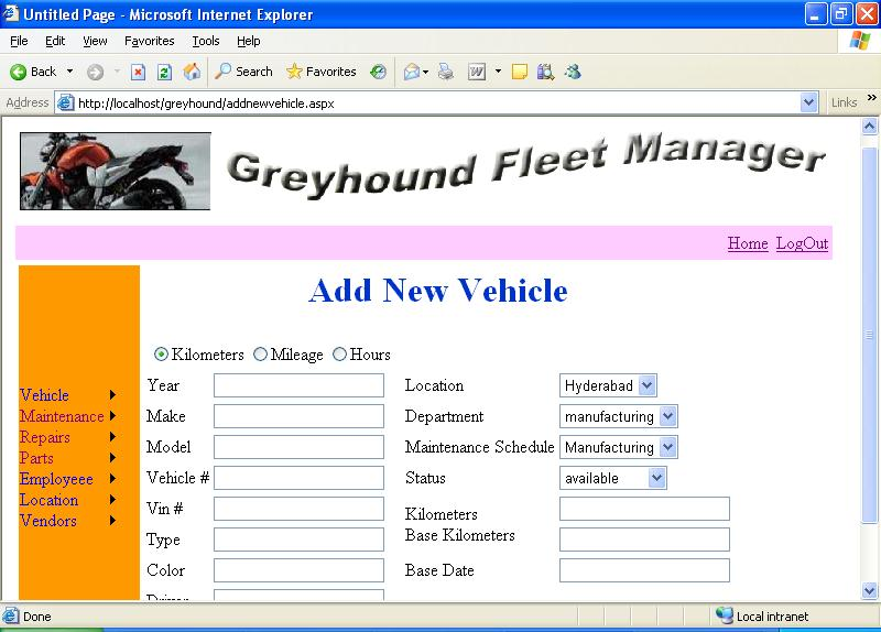 Fleet Manager System Project with Source Code - ProjectsGeek