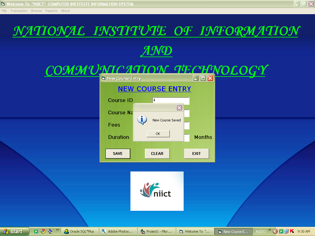 Computer Institute Management System Project Projectsgeek