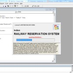Railway Ticket Booking System splash