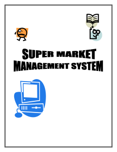 Super Market Management System