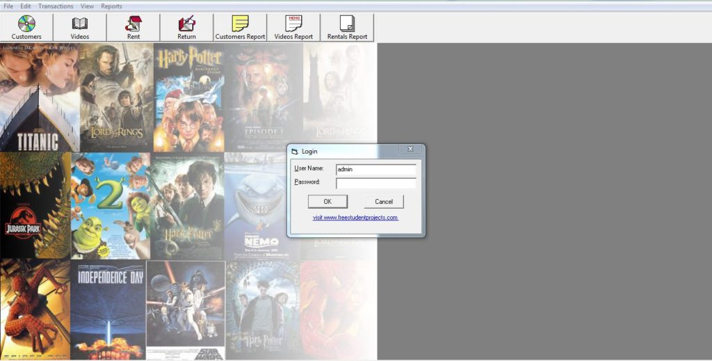 Video Library Management System project in Vb - ProjectsGeek