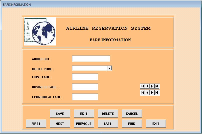 Airline Reservation System Project Visual Basic - Projectsgeek