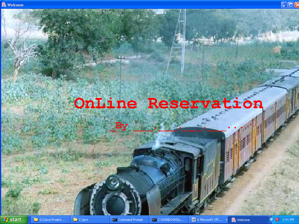 Online Reservation System Project in Java - ProjectsGeek