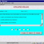 Online Examination System Home