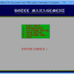 Hotel Management System menu