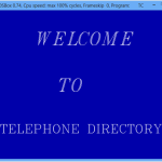 Phone Directory System home