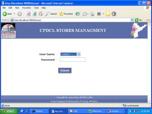 Stores Management System login