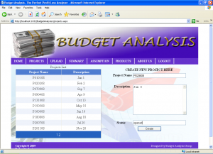 Budget Analysis System projects