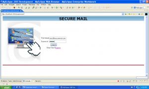 E Mail Scanning admin login