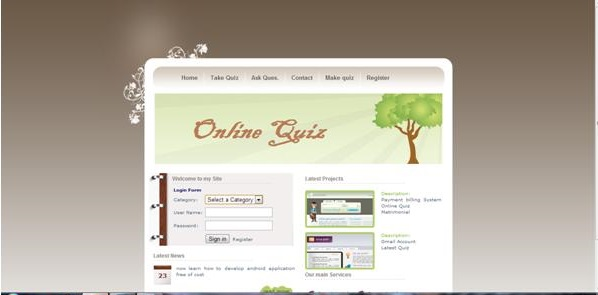 online quiz project