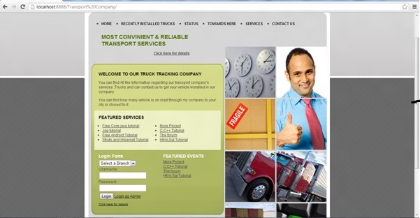 transport-company-project-using-jsp