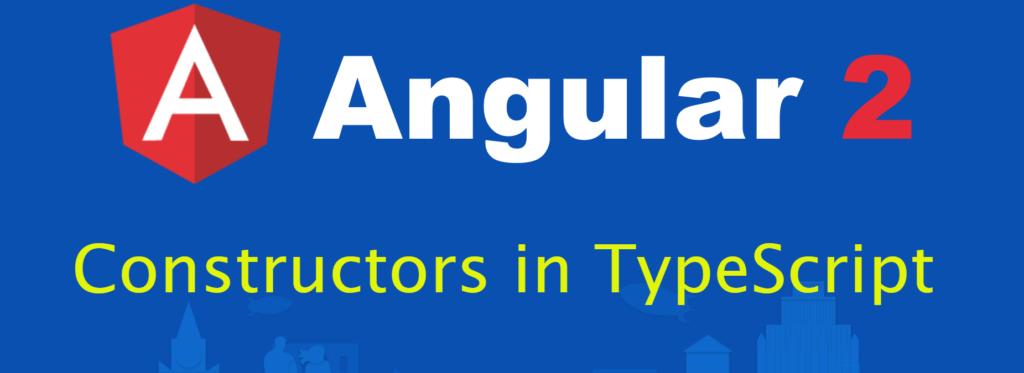Constructors in TypeScript