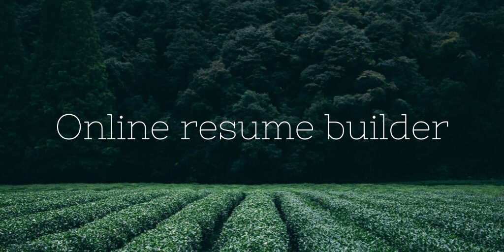 online resume builder php project